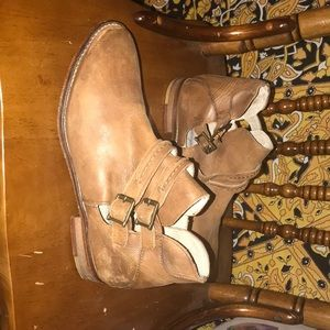 Size 37 (or 7) leather Free People booties